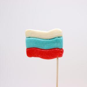 Леденец «Флаг» 30 грамм вложение 16 штук
