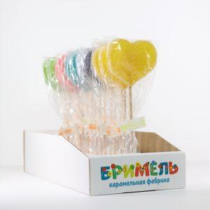 Мармелад жевательный «Сердце» 30 грамм вложение 16 штук