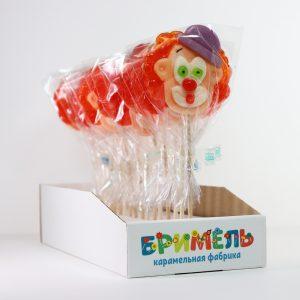 Леденец «Клоун» 30 грамм вложение 16 штук