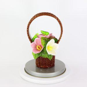 Карамельная Корзинка с лютиками розово-белые в тубе
