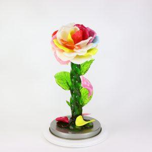 Карамельная Роза большая семицветик в тубе
