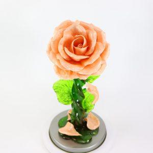 Карамельная Роза большая чайная в тубе