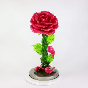 Карамельная Роза большая малиновая в тубе