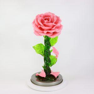 Карамельная Роза большая розовая в тубе