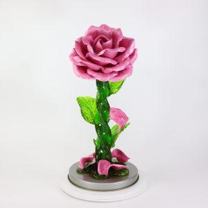 Карамельная Роза большая лиловая в тубе