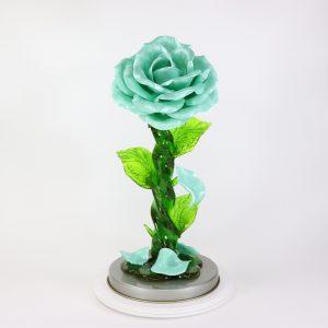 Карамельная Роза большая бирюзовая в тубе