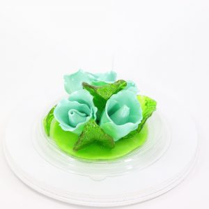 Карамельная Роза маленькая бирюзовая в полусфере