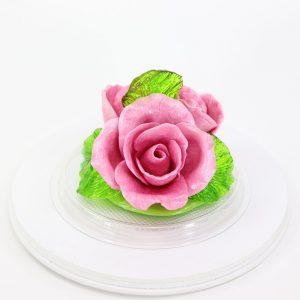 Карамельная Роза маленькая лиловая в полусфере