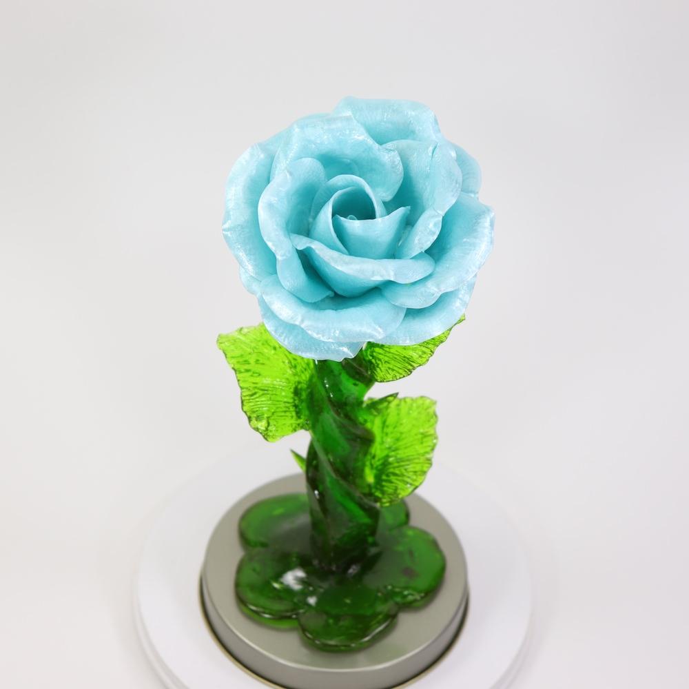 Карамельная Роза средняя морозное небо в тубе